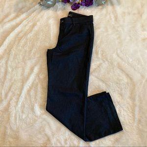 Lee Blue Regular Fit Mid Rise Trouser Pants Sz 8M